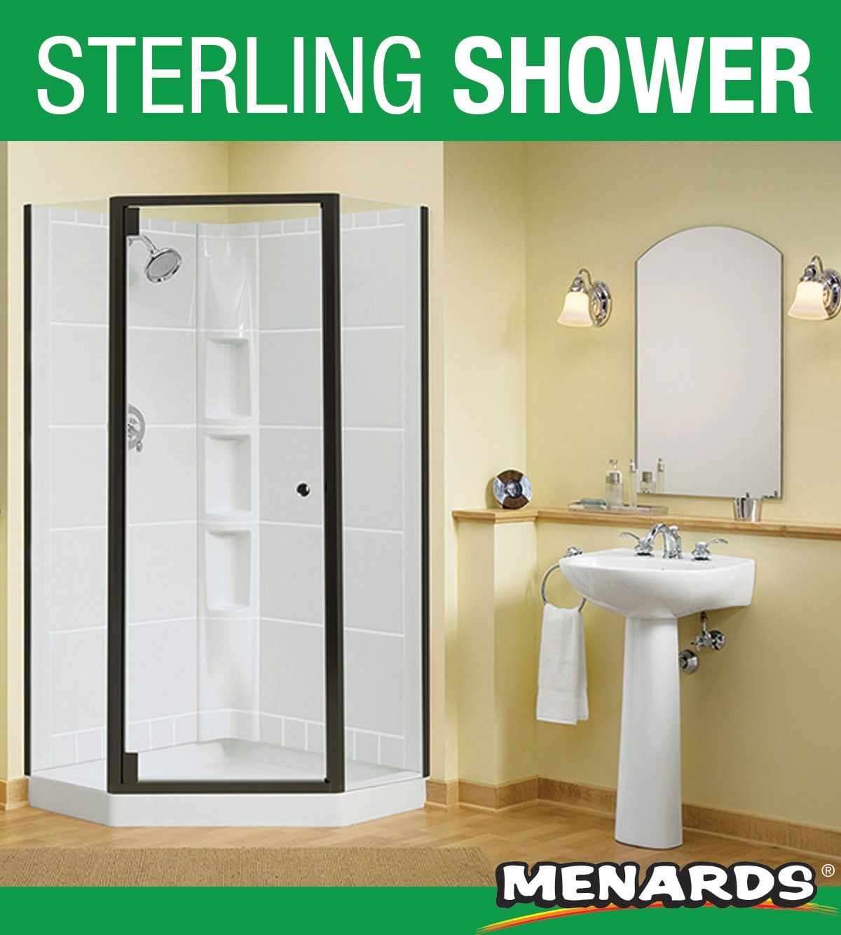 Ideal For Small Spaces The Neo Angle Shower Made Of Solid