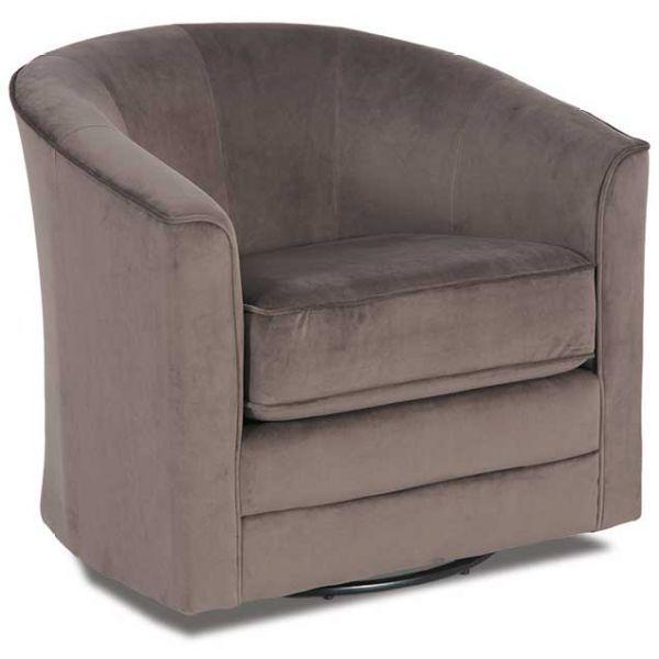 Gray Velvet Swivel Tub Chair