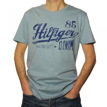 02bd62b9 Hilfiger Denim Federer Men's T Shirt in Light Blue Heather   polo ...