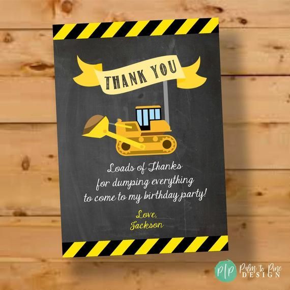 Dump truck Party bag stickers 24 thank you  sweet cone labels builder