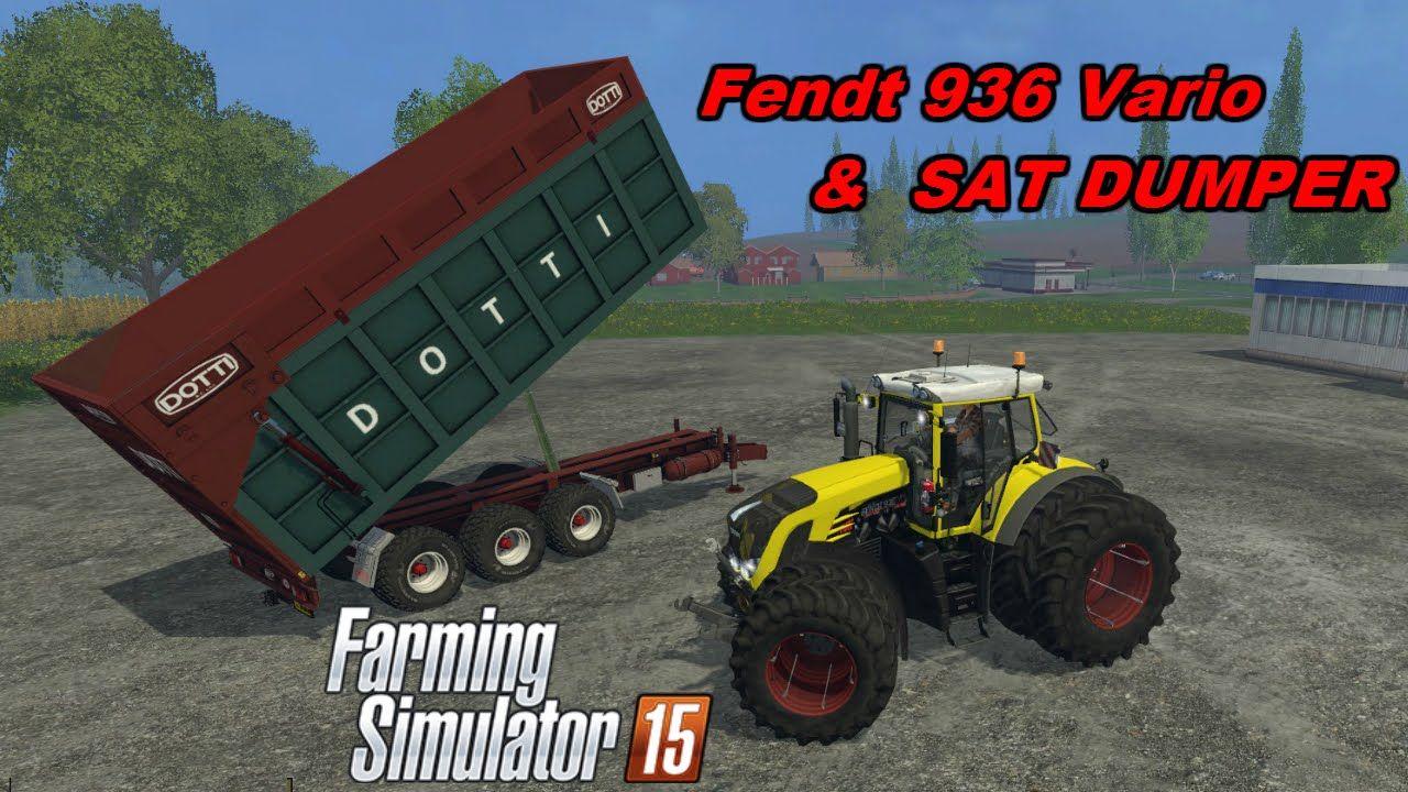 Farming Simulator 2015 Mods - Fendt 936 Vario & SAT DUMPER | Farming