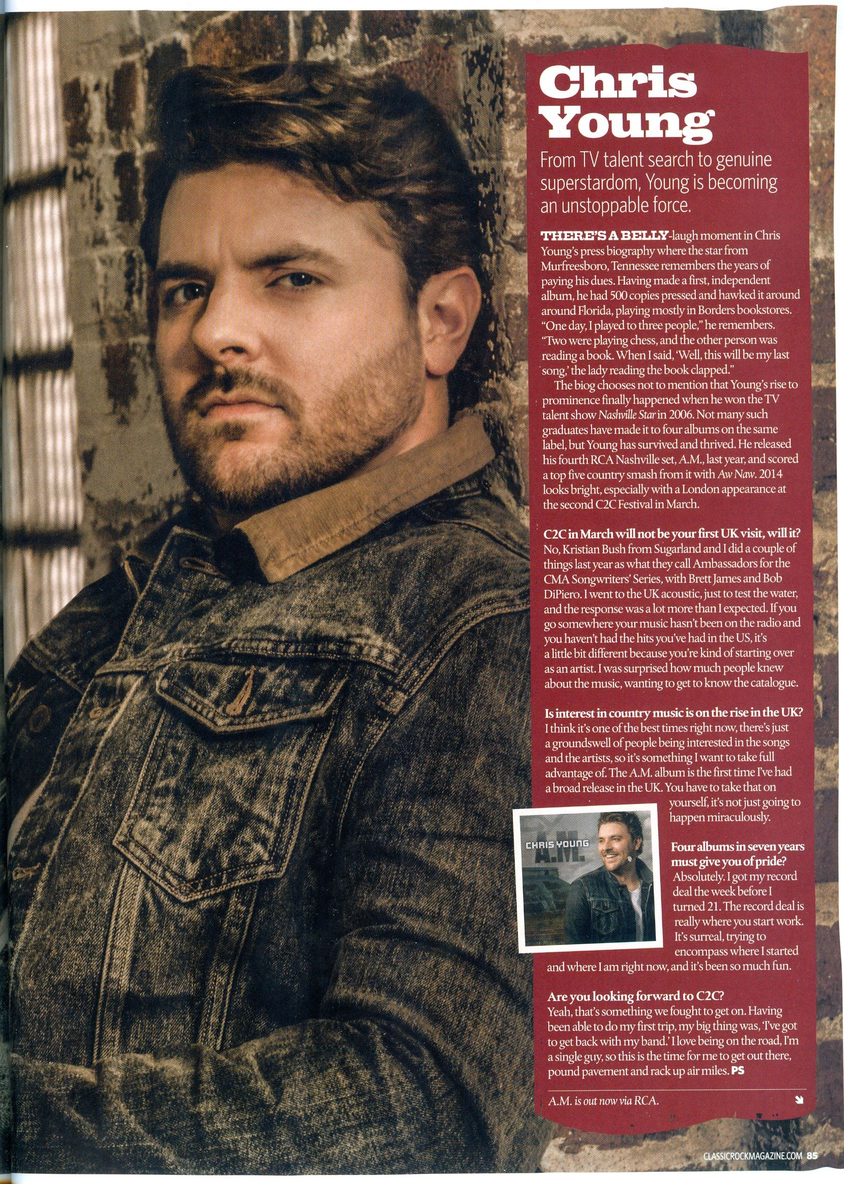 Chris Young Interview Jan 2014 From Country Music Magazine Uk