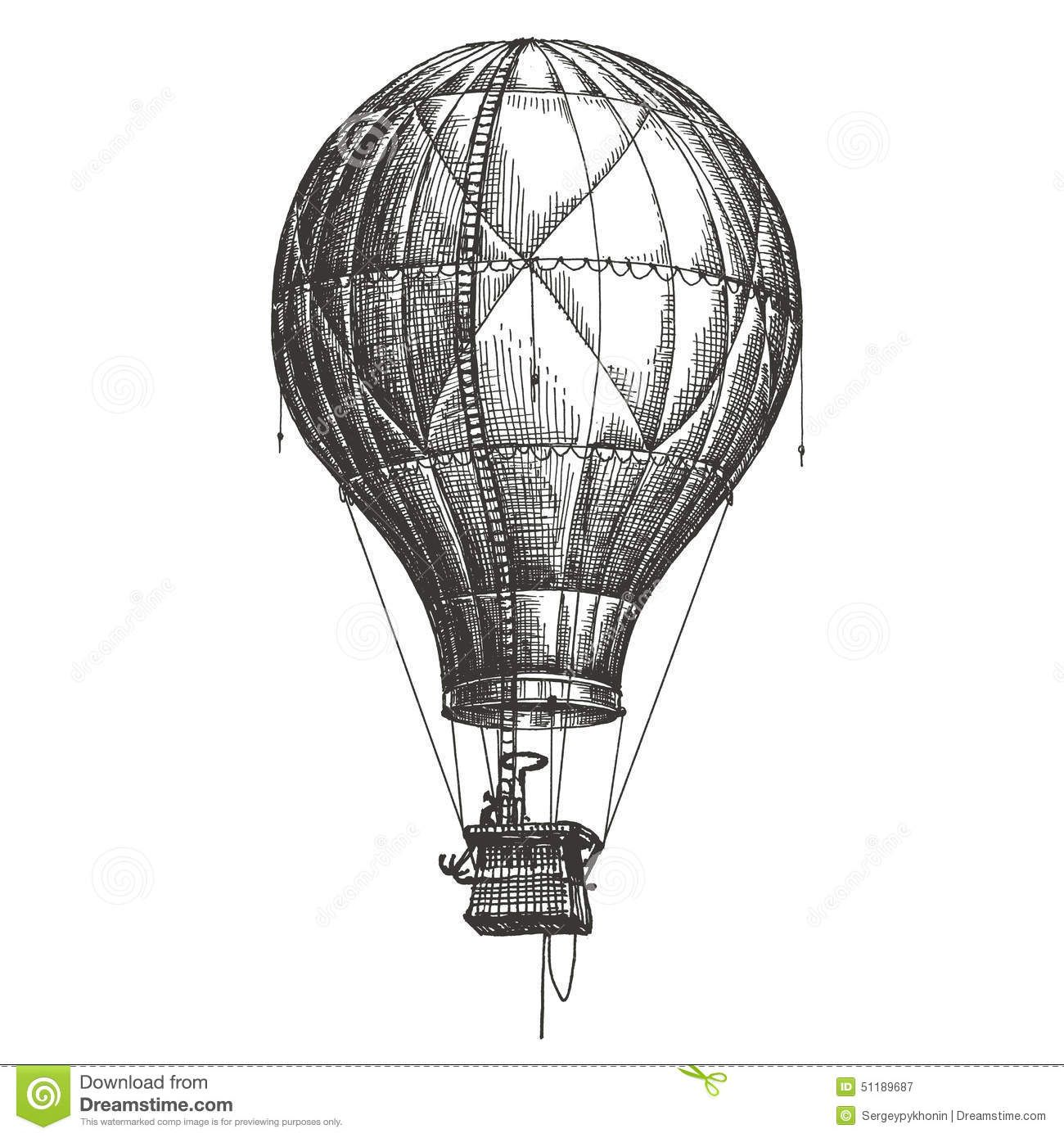 hot air balloon black and white google search