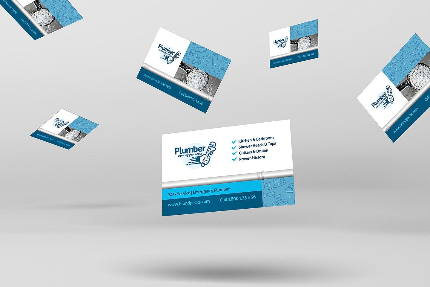 Plumber Business Card Template Easy Save Product Photos