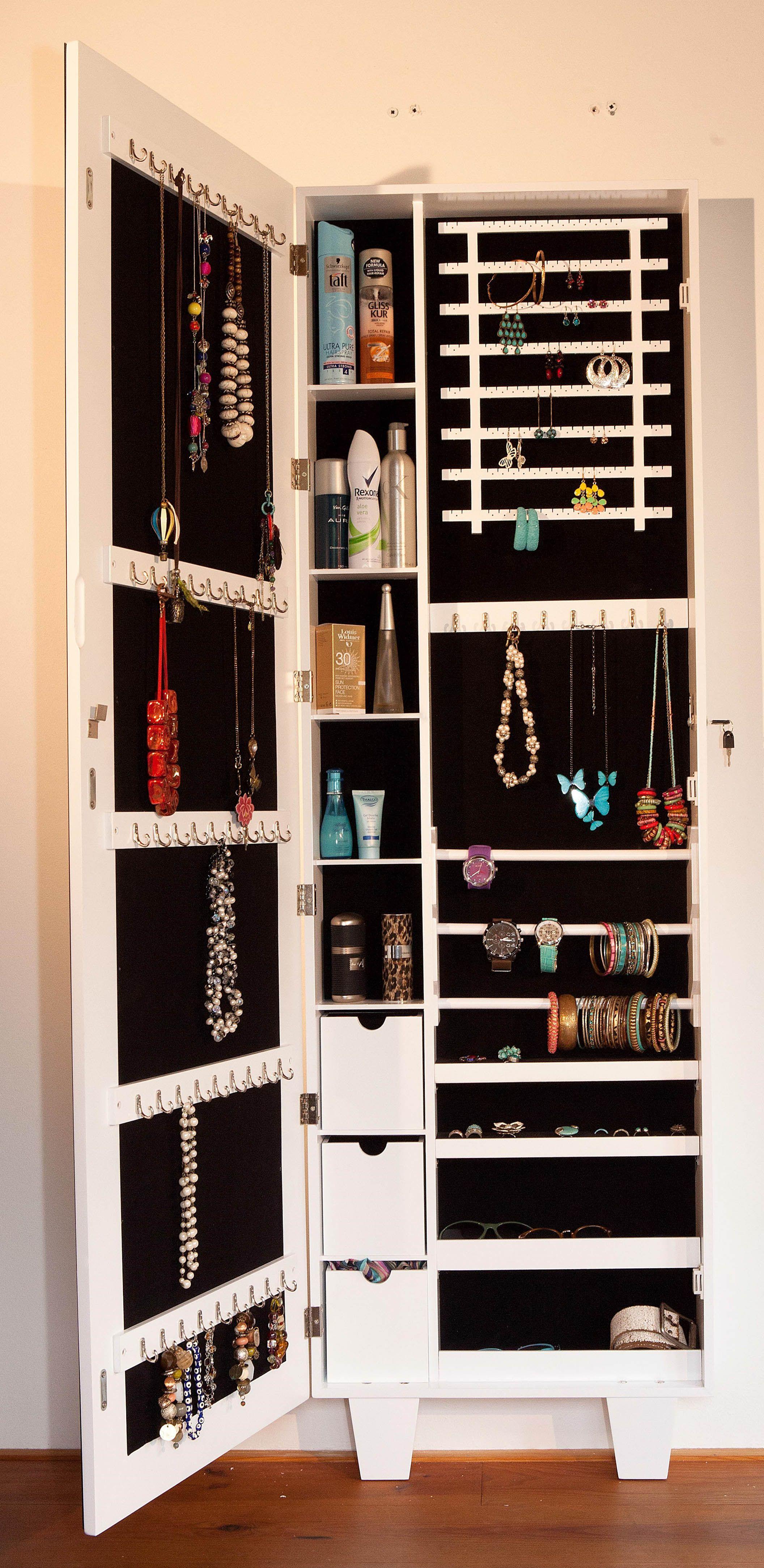Sieradenkast met spiegel voorop | Bedroom storage | Pinterest ...