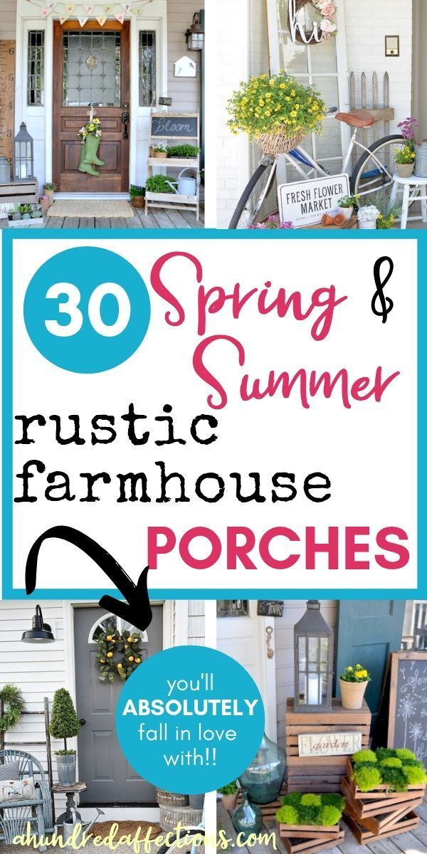 30 Farmhouse Spring Porches You'll Fall in Love With #relaxingsummerporches