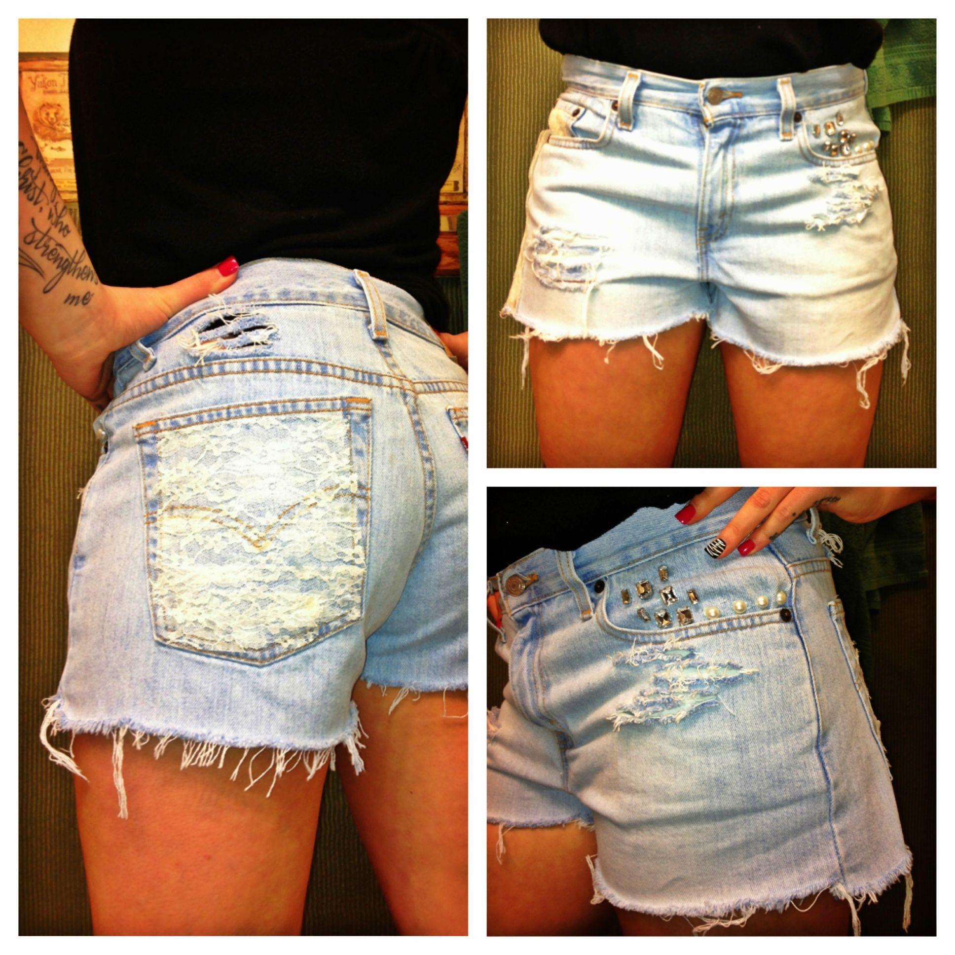 diy high waisted jean shorts mycreations pinterest