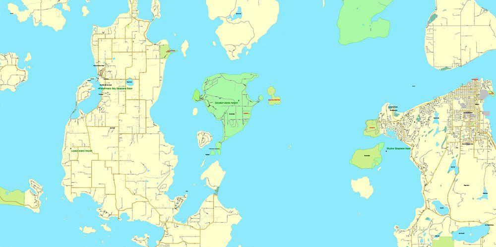 Victoria Canada Adobe Illustrator full vector Map V3 09