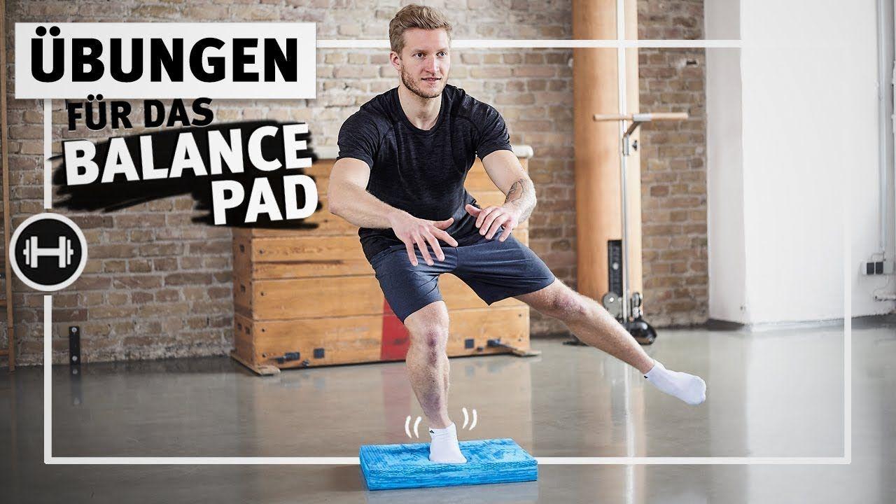 Balance Pad Übungen Stabilisation für Knie, Fuß und