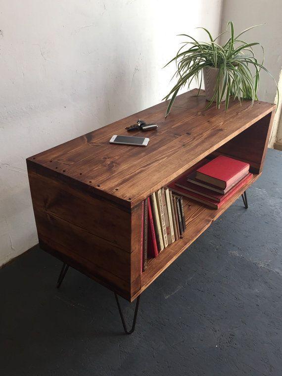 Stanton Record Player Stand / LP/ Vinyl Storage Cabinet / Console Coffee  Tableu2026