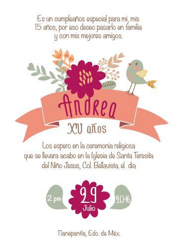 Invitación Quince Años Invitaciones Hojas Para Imprimir Y