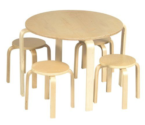 Nordic Table & Chairs (Natural)