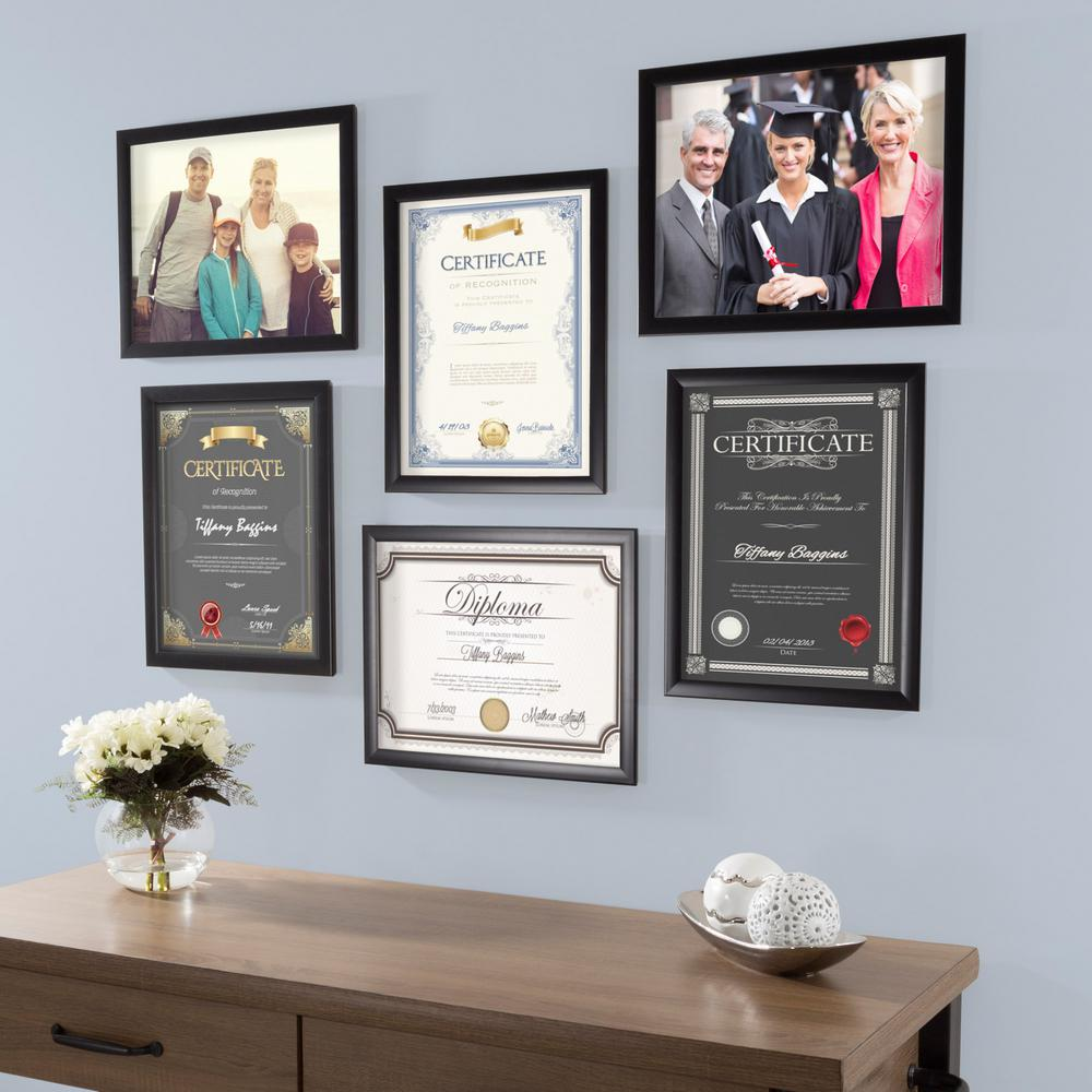 Lavish Home 11 In X 14 In Black Picture Frame 6 Pack M021014 The Home Depot In 2020 Picture Gallery Wall Lavish Home Diploma Wall