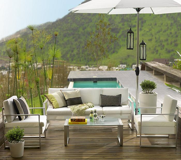 Los colores claros pueden hacer de tu terraza un lugar muy for Sodimac terrazas de mayo