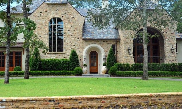Formal Front Yard Front Yard Landscaping Element Garden Houston