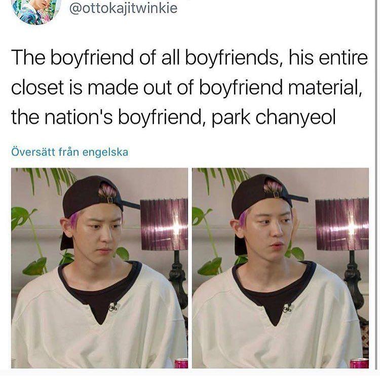 Korea S National Boyfriend My Boyfriend Ur Boyfriend That Guys Boyfriend Chanyeol Exo Funny Boyfriend Memes