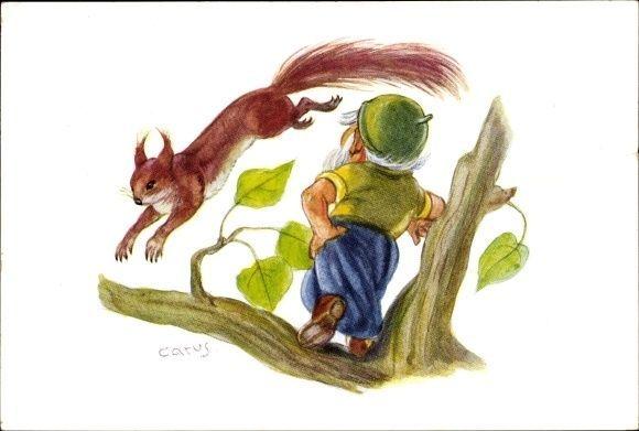 Künstler Ak Carus, Zwerg steht auf einem Zweig, springendes... - 1476848 in Sammeln & Seltenes, Ansichtskarten, Motive | eBay!