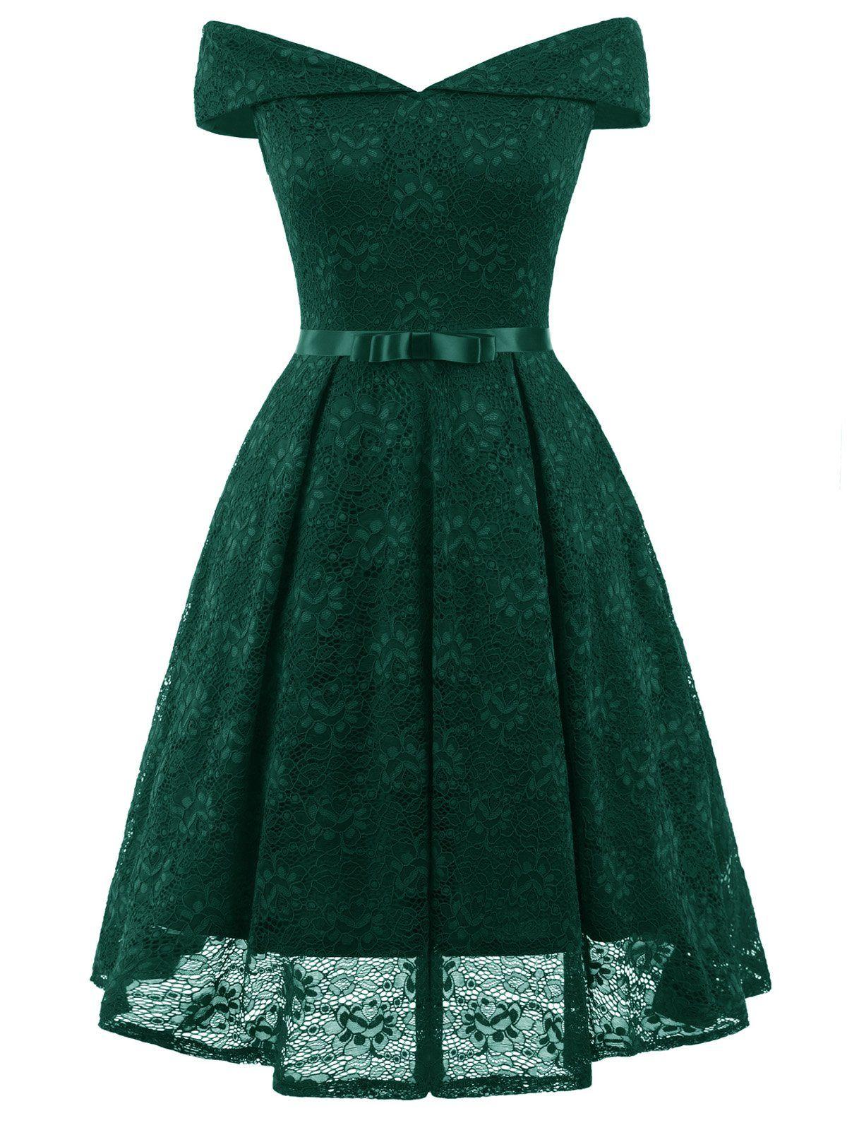 1950s Lace Off Shoulder Dress – Retro Stage - Chic Vintage Dresses ...