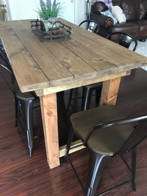 This Beautiful Solid Wood Farmhouse Style Pub Table Is