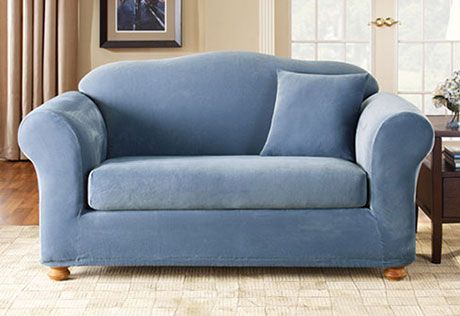 Sure Fit Slipcovers Stretch Pique Separate Seat Sofa Living Room