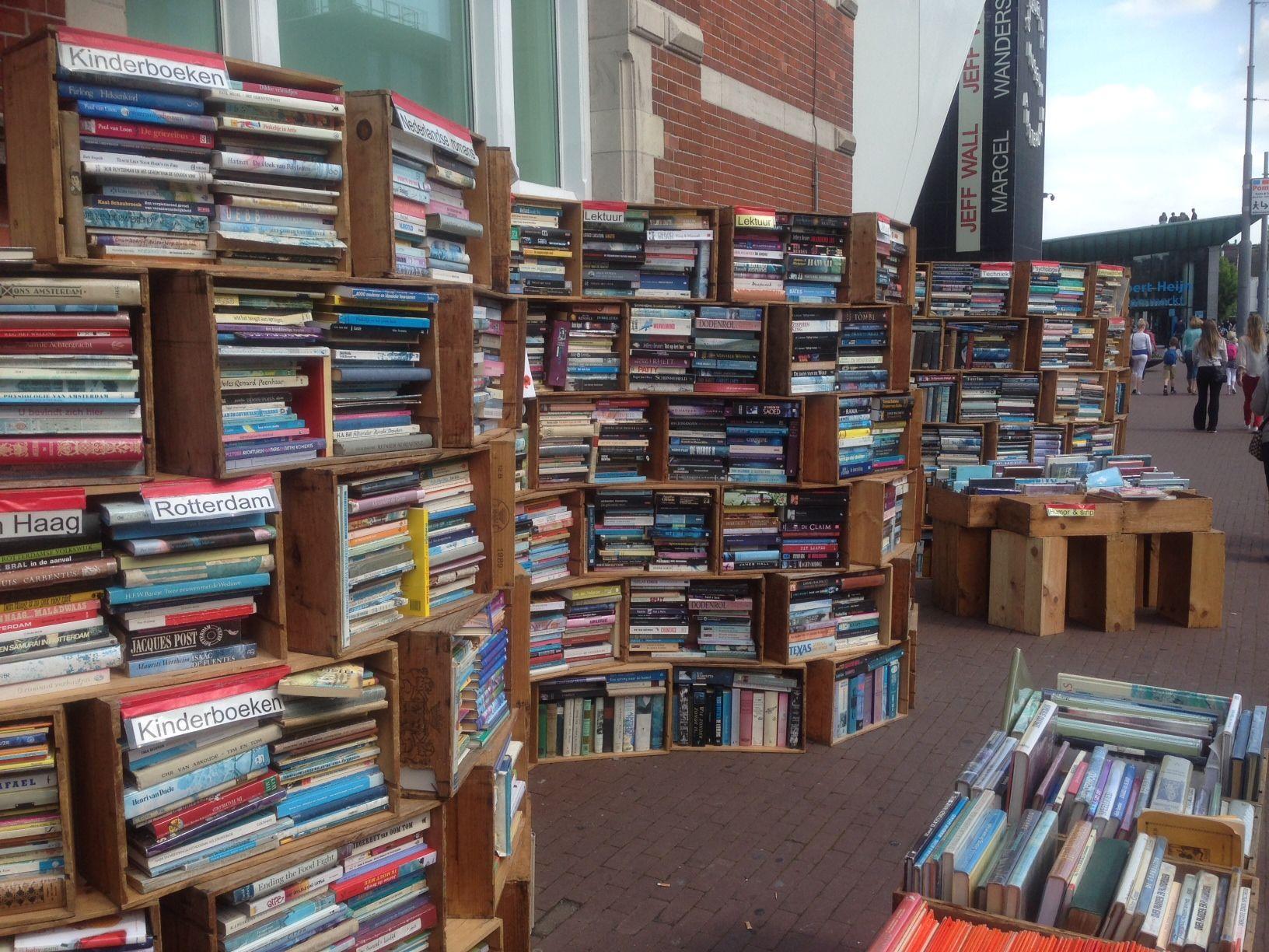 Outdoor bookstore, Amsterdam