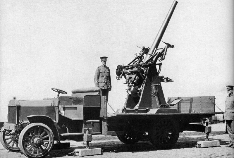 Image result for ww1 British 3 inch artillery gun