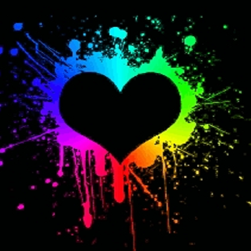 neon colors background 23 neon heart spla sh live. Black Bedroom Furniture Sets. Home Design Ideas