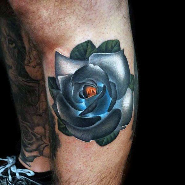 Top 103 Cool Tattoo Ideas Part Two 2020 Inspiration Guide   Rose tattoos for men, Blue rose ...
