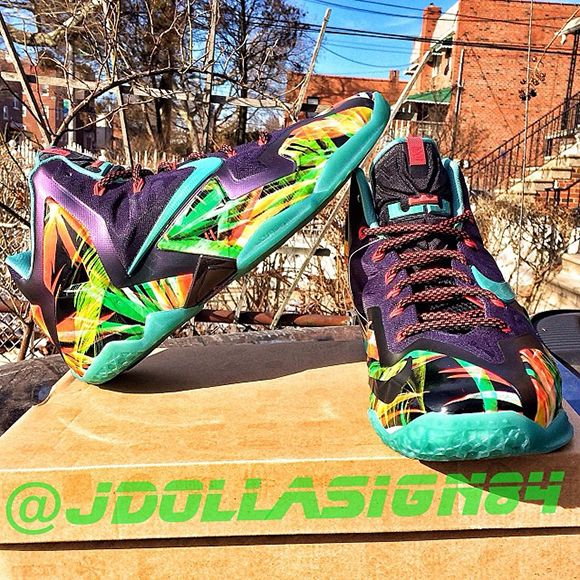 Hot Cheap Sale Nike Lebron 11 Zoom All Star 647780 735
