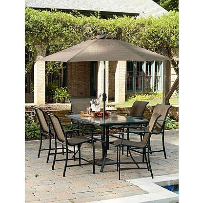 Garden Oasis Harrison 7 Piece Sling High Dining Set - Sears - $428 ...