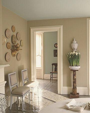 Martha Stewart\'s Araucauna colors -drabware walls, turquoise ceiling ...