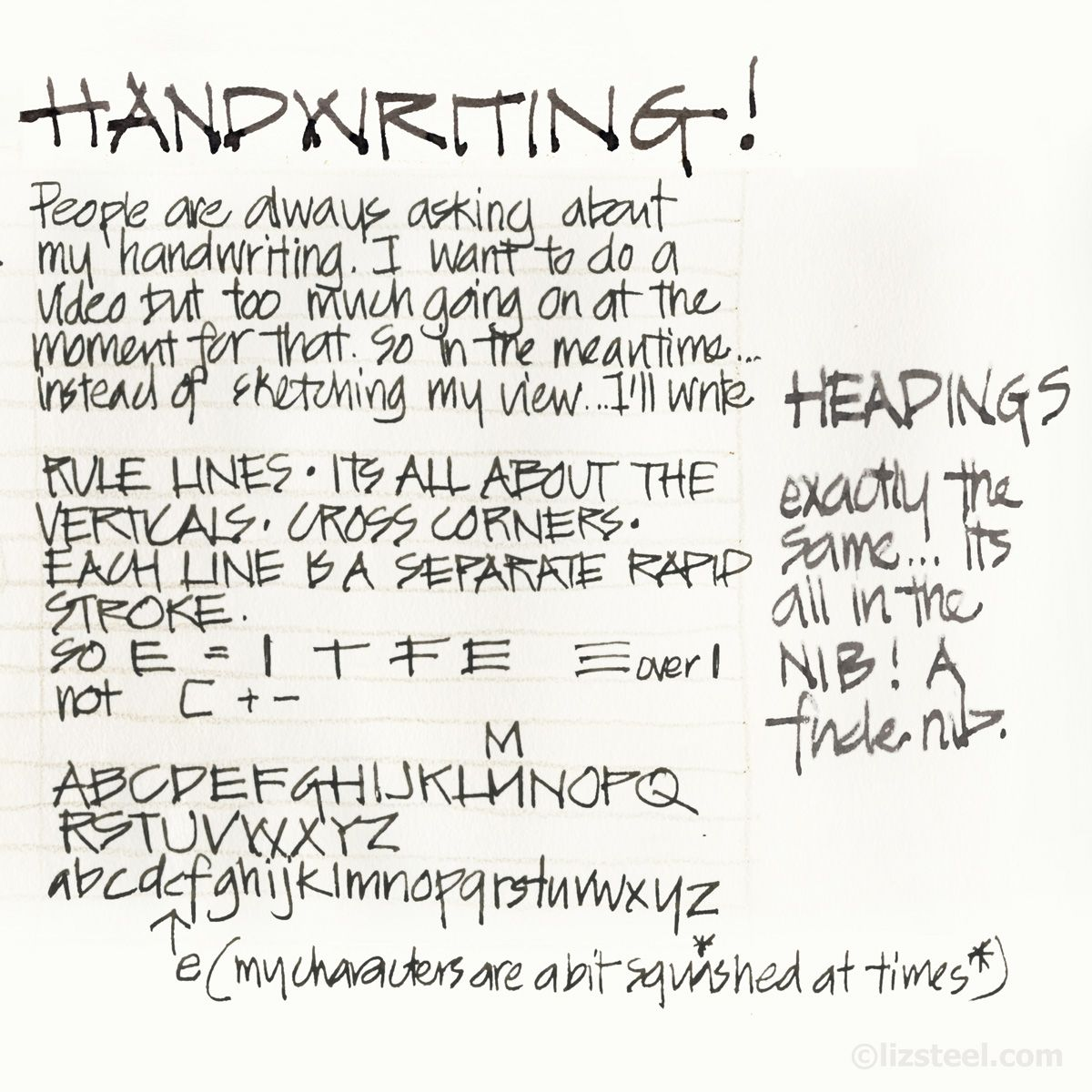 I get asked ALL the time for something about my handwriting. And I