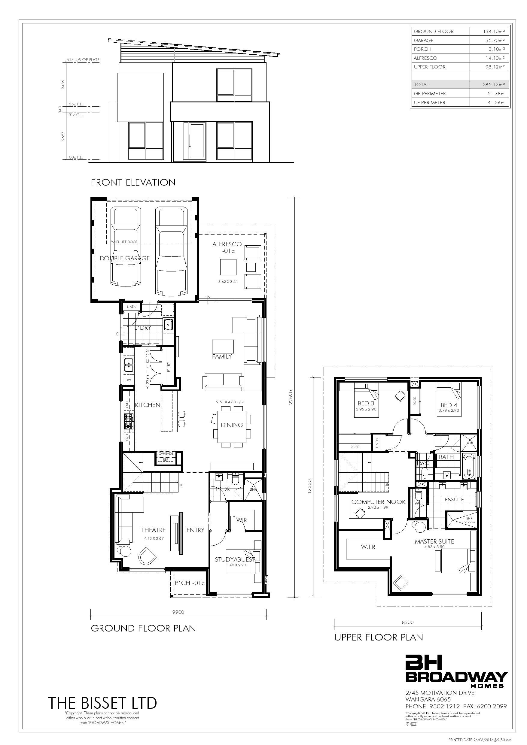 The Bisset Ltd Limited Edition Designs Broadway Homes Floor Plans House Plans Ground Floor Plan