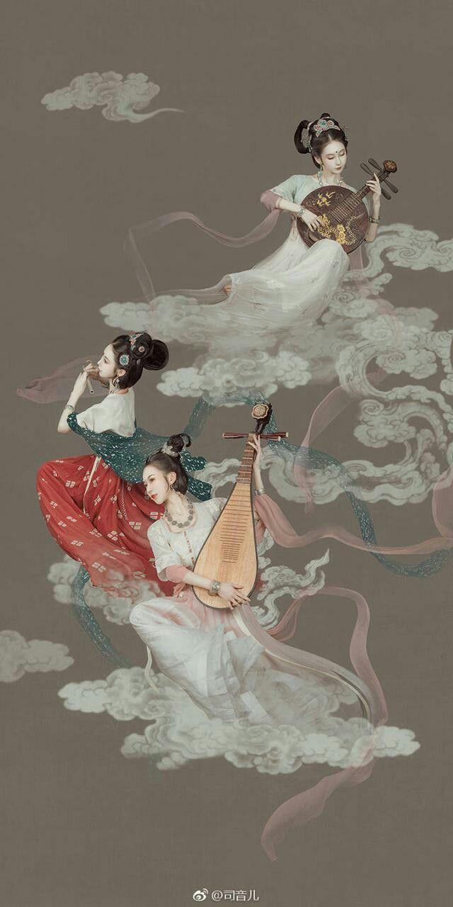 敦煌飛天 中國藝術家最天才的創作 獨具中華文化特色 魅力無限 神様 イラスト 仏教芸術 敦煌