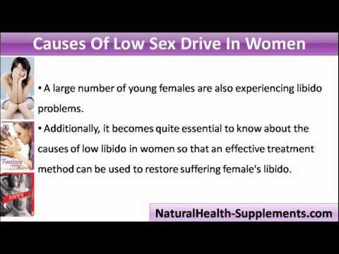 What causes low sex drive in women