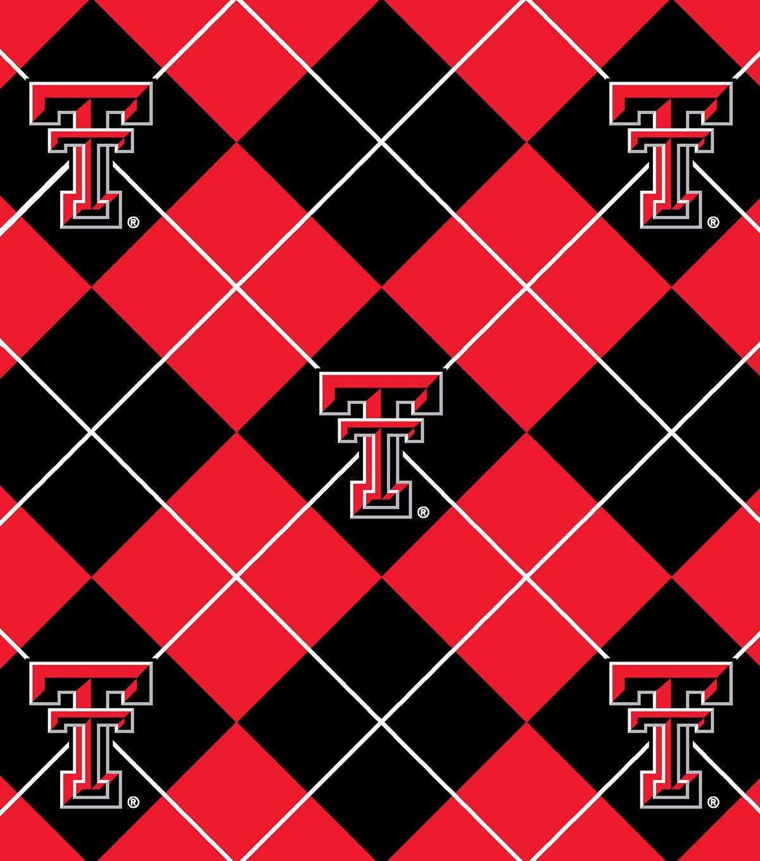 Texas tech university red raiders fleece fabric