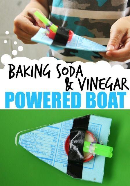 Baking Soda Vinegar Powered Boat Stem Learning Steam Science