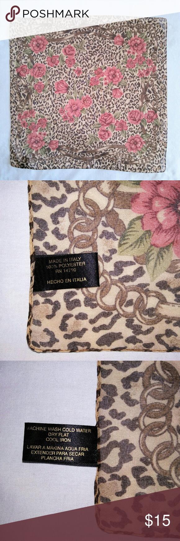 Hundredsofscarves SHEER Animal Print Head Scarf