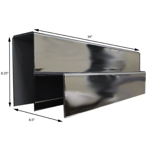 34-inch 2 Tier Liquor Bottle Shelf – Mirror Finish Mirrored
