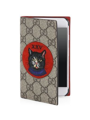 95a54e5f8c9 GUCCI Embroidered Mystic Cat and XXV Suede Patch iPhone 7 Cover.  gucci   bags  canvas  phone case  accessories  suede