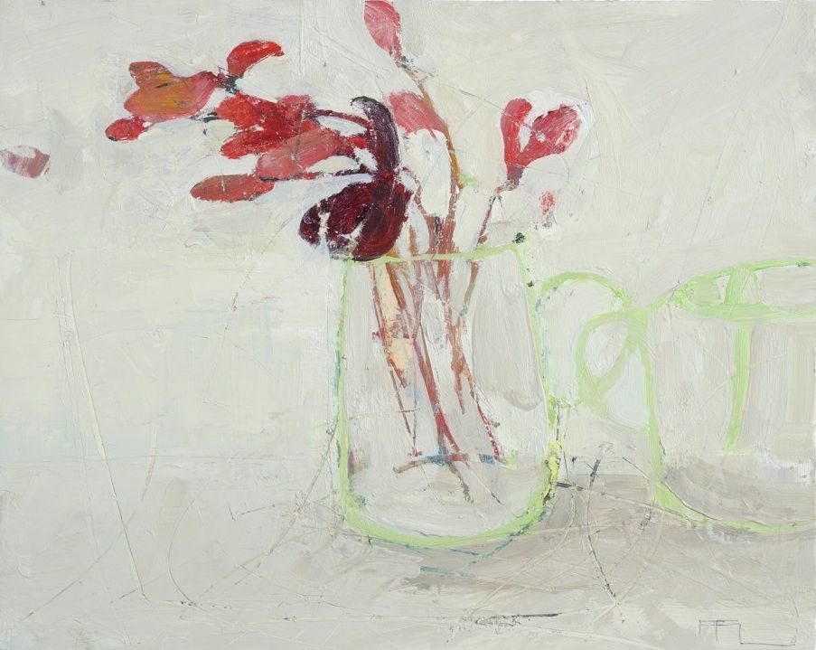 Cyclamen Stems 2013 in FFIONA LEWIS from The Redfern Gallery
