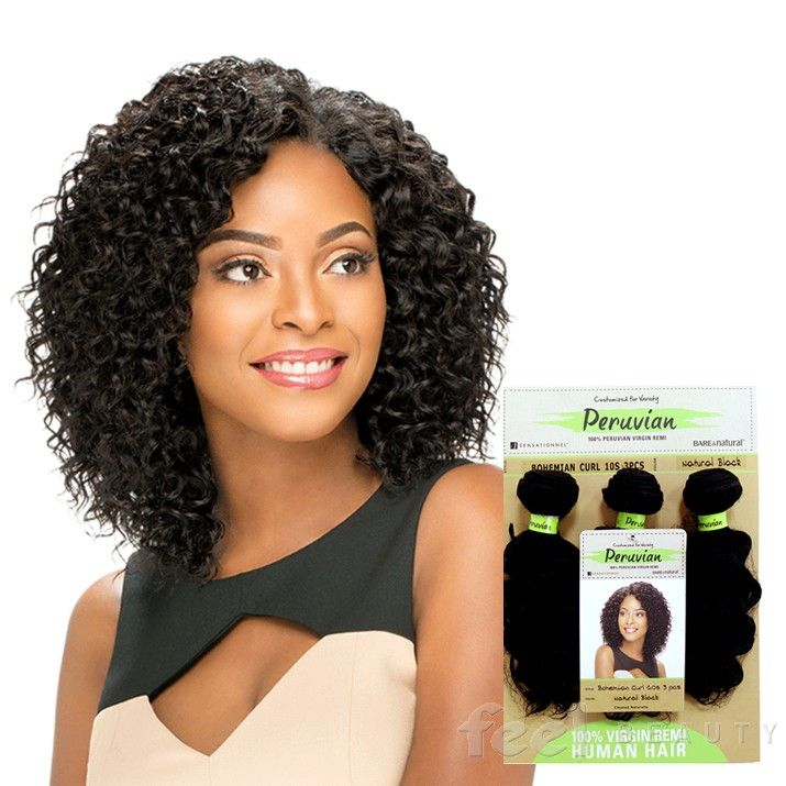 Sensationnel Peruvian Virgin Remi Bundle Hair Bare Natural Bohemian 10 S 3pcs