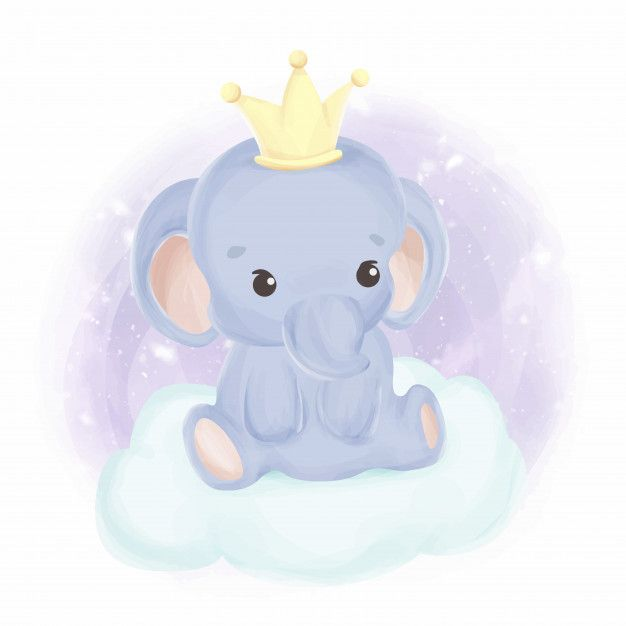 Gallery King Of Baby Elephant Watercolor is free HD wallpaper.