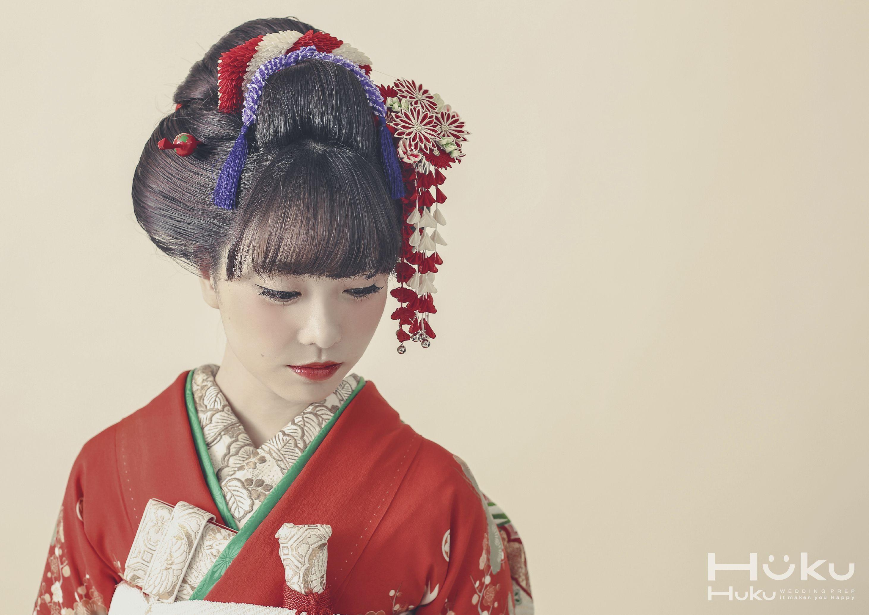 前髪ありの新日本髪も可愛らしくて、額を出したく無い方にはオススメです。 新日本髪#ヘアスタイル#和装ヘア 【縁,enishi,】