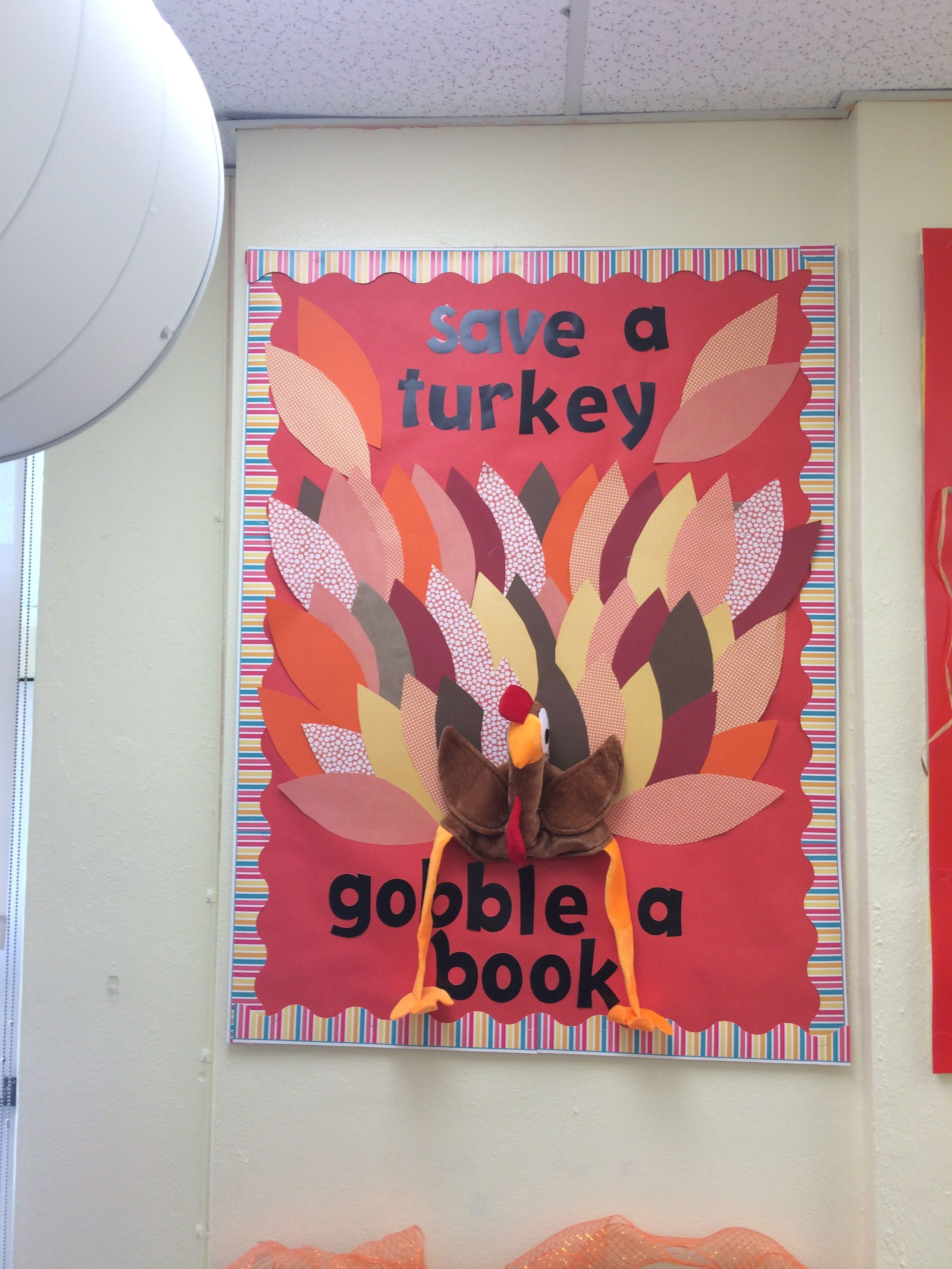 fall 2015 library display thanksgiving