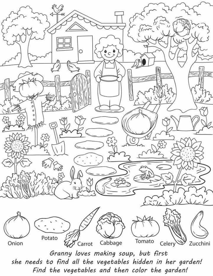 Pin by Gülsen Gün Öztaykutlu on Gizli nesne bulma Pinterest - copy coloring pages of vegetables