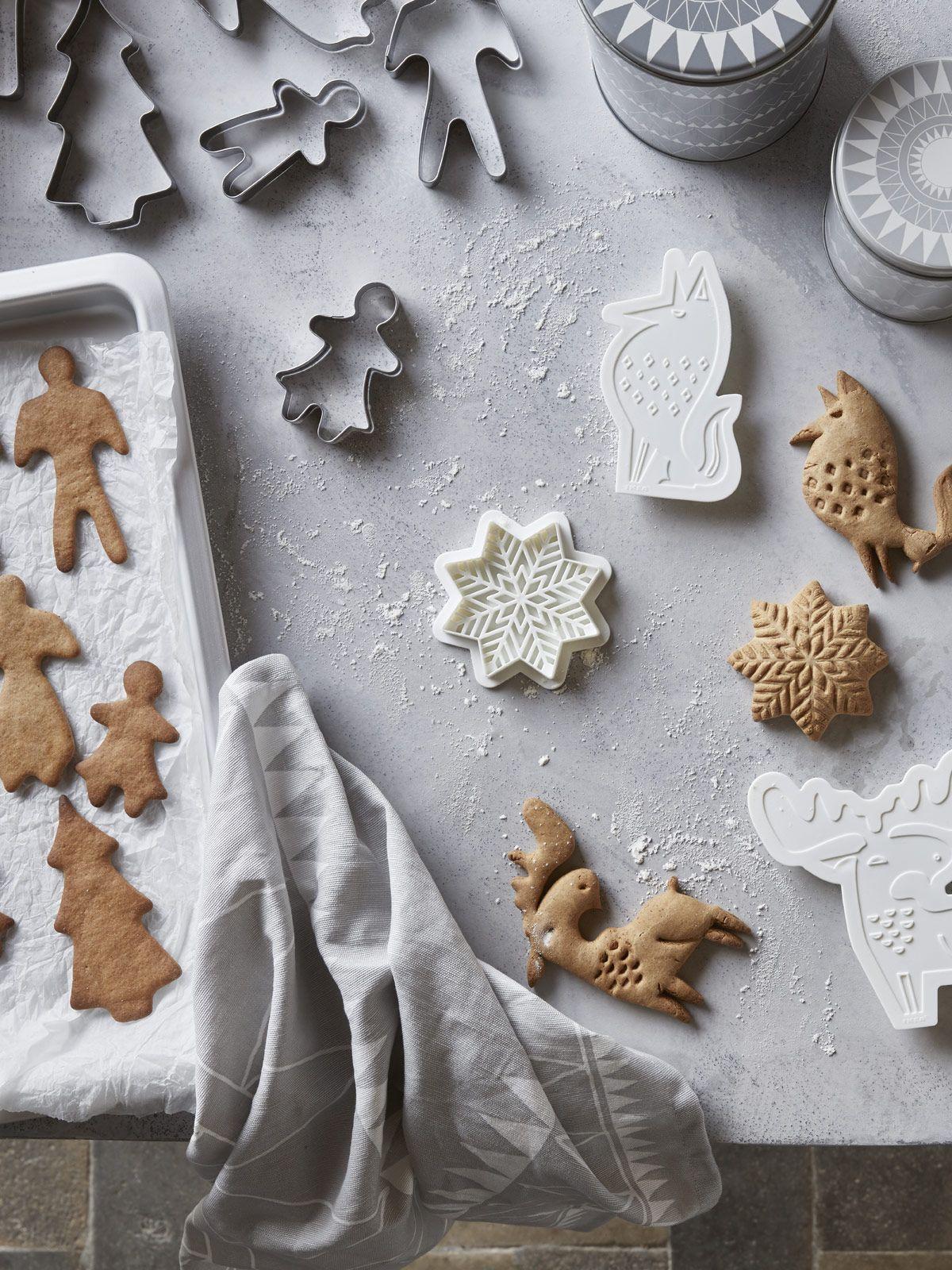 Ikea 6 Cookie Cutters Samlas Tree Star Heart 2 Bonus Angel