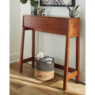 Janney 35 Solid Woodconsole Table In 2020 Wood Console Table Console Table Narrow Console Table