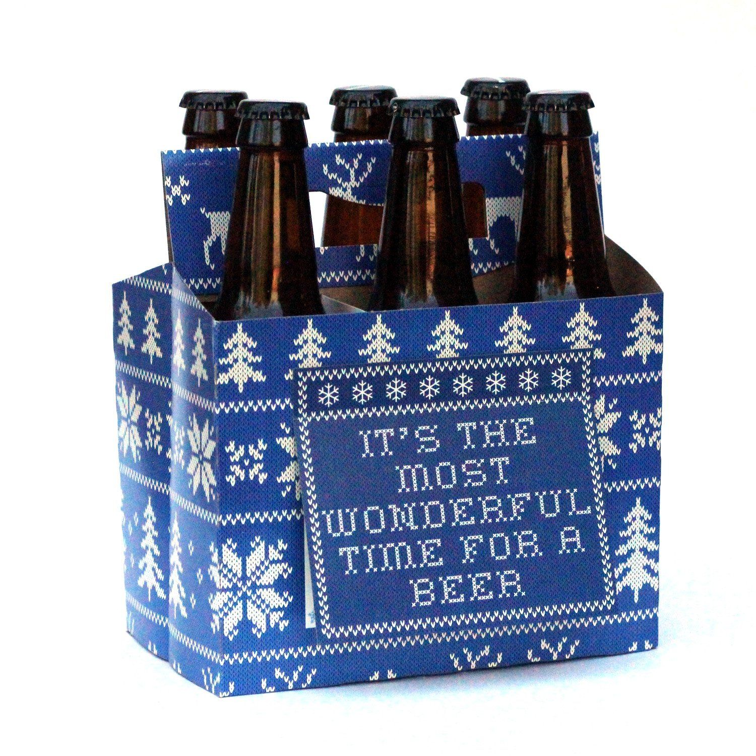 Amazon beer greetings holiday sweater six pack greeting amazon beer greetings holiday sweater six pack greeting card box kristyandbryce Choice Image