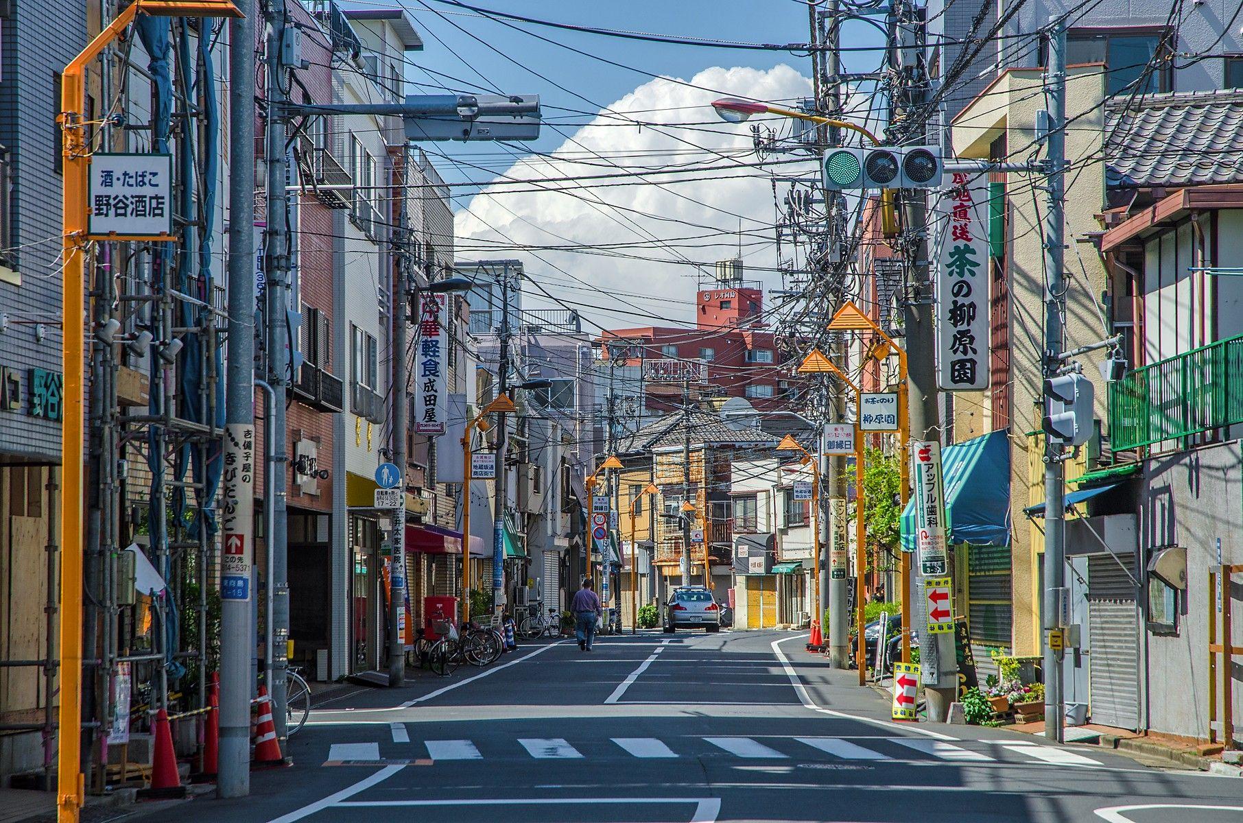 Outdoors Street Urban City Japan Tokyo Building Signs Sky Clou Anime Scenery Wallpaper Aesthetic Desktop Wallpaper Laptop Wallpaper Desktop Wallpapers